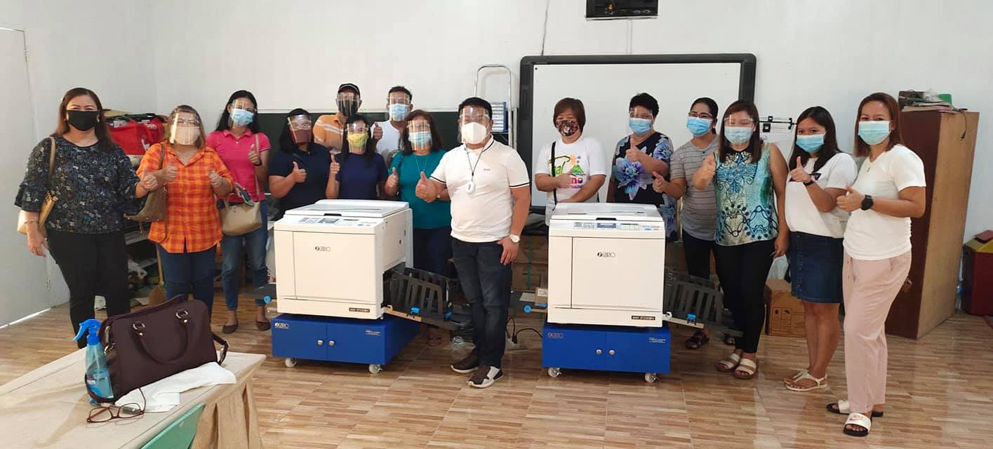 Municipal SEF funded Risograph Machines for Printing Modules for the Students of Bacolor