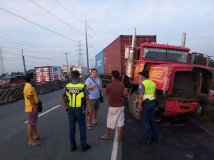 HON. MAYOR JOSE HIZON TRANPIRED TO THE VEHICULAR ACCIDENT ALONG JASA ROAD BRGY. STA