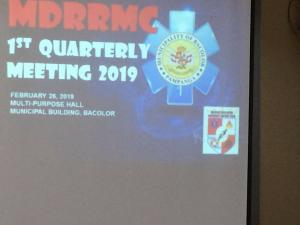 1st Quarterly Meeting MDRRMC